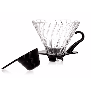 Dripper / Filtr do kawy szklany HARIO DRIPPER BLACK II V60-02