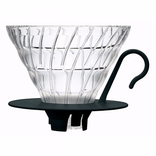 Dripper / Filtr do kawy szklany HARIO DRIPPER BLACK V60-01