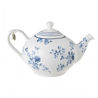 Dzbanek do herbaty i kawy porcelanowy LAURA ASHLEY CHINA ROSE BIAŁY 1,2 l