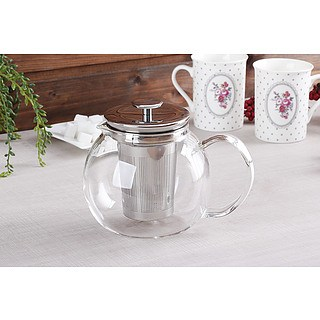 Dzbanek do herbaty i kawy szklany BIALETTI TEA PRESS 1 l