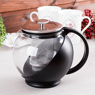 Dzbanek szklany do herbaty BIALETTI TEA PRESS BLACK 1,3 l
