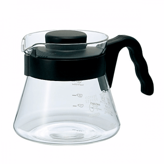Dzbanek do herbaty i kawy szklany HARIO COFFEE SERVER BLACK 0,5 l