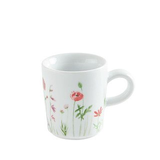 Filiżanka do espresso porcelanowa KAHLA WILDBLUME MAKI BIAŁA 90 ml
