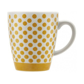 Filiżanka do kawy i herbaty porcelanowa BIALETTI POP YELLOW WIELOKOLOROWA 325 ml