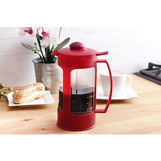 French press / Zaparzacz do kawy tłokowy szklany AMBITION FUSION RED 1 l