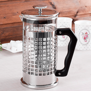 French press / Zaparzacz do kawy tłokowy szklany BIALETTI FRENCH PRESS KRATKA 1 l