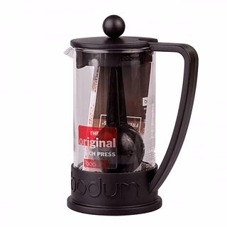 French press / Zaparzacz do kawy tłokowy szklany BODUM FRENCH PRESS BRAZIL CZARNY 0,4 l