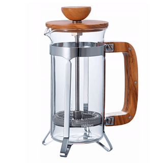 French press / Zaparzacz do kawy tłokowy szklany HARIO CAFE PRESS OLIVE WOOD 0,3 l
