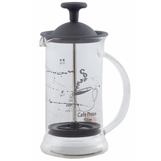 French press / Zaparzacz do kawy tłokowy szklany HARIO CAFE PRESS SLIM BLACK 0,2 l