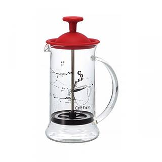 French press / Zaparzacz do kawy tłokowy szklany HARIO CAFE PRESS SLIM RED 0,2 l