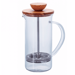 French press / Zaparzacz do kawy tłokowy szklany HARIO TEA PRESS OLIVE WOOD 0,3 l