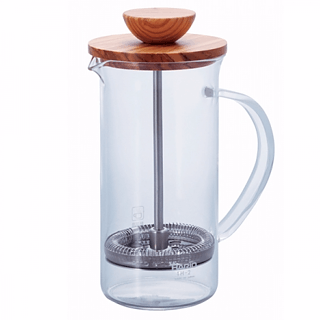 French press / Zaparzacz do kawy tłokowy szklany HARIO TEA PRESS OLIVE WOOD 0,6 l