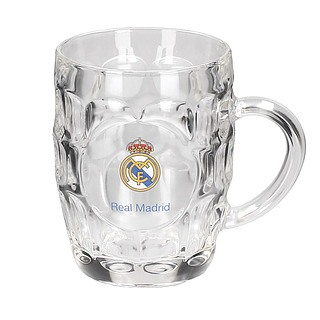 Kufel do piwa szklany REAL MADRID 500 ml