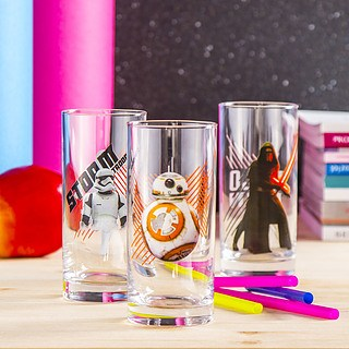 Szklanki do napojów szklane STAR WARS SET 290 ml