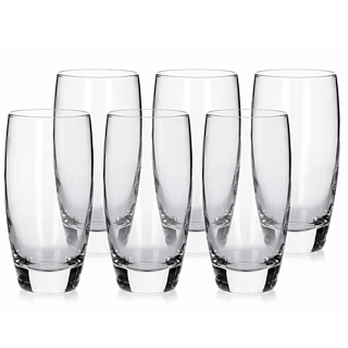 Komplet 6 szklanek do napojów LONG GLASS 350 ml