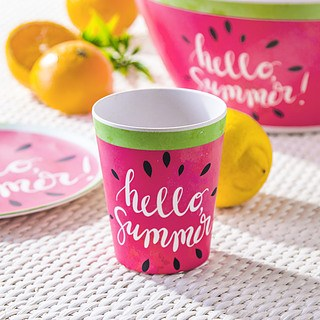 Kubek bambusowy EXCELLENT HOUSEWARE HELLO SUMMER RÓŻOWY 350 ml