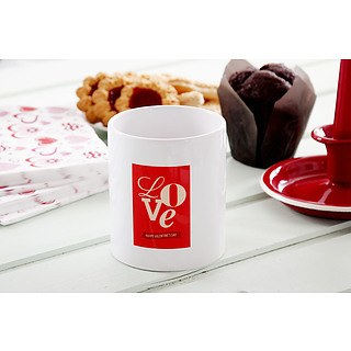 Kubek ceramiczny boss z napisem LOVE HAPPY VALENTINES DAY 330 ml