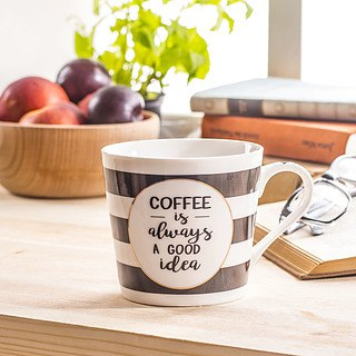 Kubek ceramiczny COFFEE IS ALWAYS A GOOD IDEA BIAŁY 330 ml