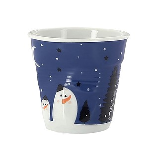 Kubek do espresso porcelanowy REVOL FROISSES WINTER NIGHT NIEBIESKI 80 ml