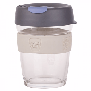 Kubek do kawy szklany z pokrywką KEEPCUP BREW ALCHEMY SILVER 340 ml