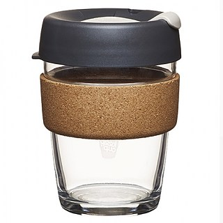 Kubek do kawy szklany z pokrywką KEEPCUP BREW CORK PRESS 340 ml