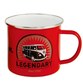 Kubek emaliowany VOLKSWAGEN COLLECTION BY BRISA JUG LEGENDARY CZERWONY 0,5 l
