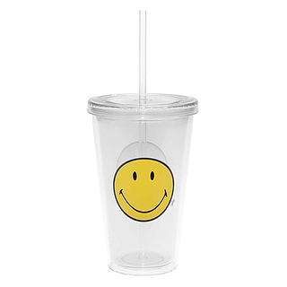 Kubek plastikowy ze słomką ZAK DESIGNS SMILEY 490 ml