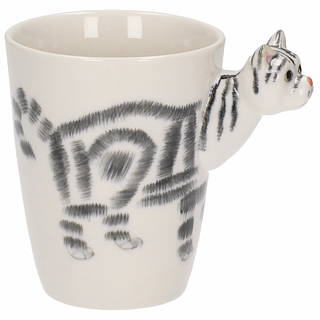 Kubek porcelanowy 3D ANIMAL CAT 400 ml