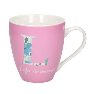 Kubek porcelanowy BARYŁKA LIFE IS SWEET 610 ml