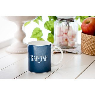 Kubek porcelanowy boss z napisem AMBITION HAPPY KAPITAN 300 ml