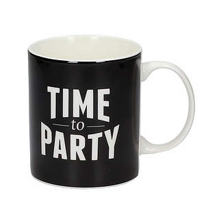 Kubek porcelanowy boss z napisem AMBITION HAPPY TIME TO PARTY 300 ml