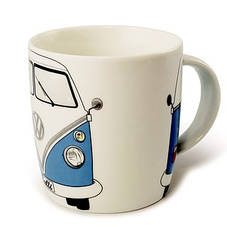 Kubek porcelanowy VOLKSWAGEN COLLECTION BY BRISA BUS BLUE BIAŁY 370 ml