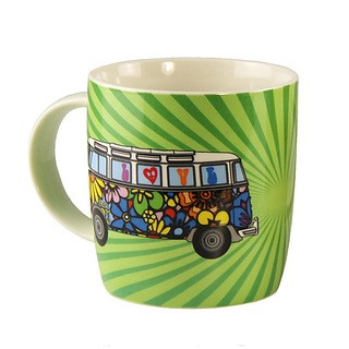 Kubek porcelanowy VOLKSWAGEN COLLECTION BY BRISA LOVE BUS ZIELONY 370 ml