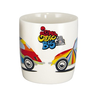 Kubek porcelanowy VOLKSWAGEN COLLECTION BY BRISA LOVE THAT BUG BIAŁY 370 ml