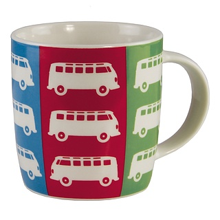 Kubek porcelanowy VOLKSWAGEN COLLECTION BY BRISA STRIPES WIELOKOLOROWY 370 ml