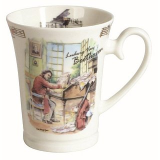 Kubek porcelanowy DOMOTTI MUSIC BEETHOVEN 350 ml