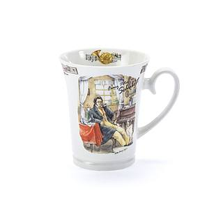Kubek porcelanowy DOMOTTI MUSIC SCHUBERT 350 ml