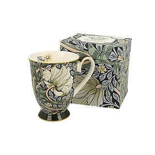 Kubek porcelanowy DUO ART GALLERY BY WILLIAM MORRIS GREEN ZIELONY 325 ml