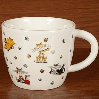 Kubek porcelanowy DUO KITTIES 800 ml