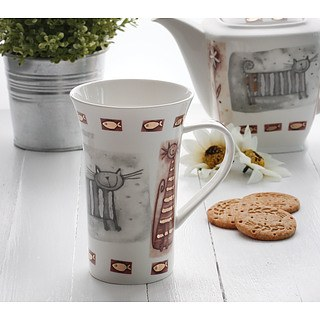 Kubek porcelanowy DUO KOT 500 ml