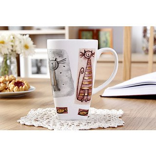 Kubek porcelanowy DUO KOT 550 ml