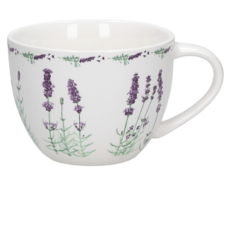 Kubek porcelanowy DUO LAVENDER 600 ml