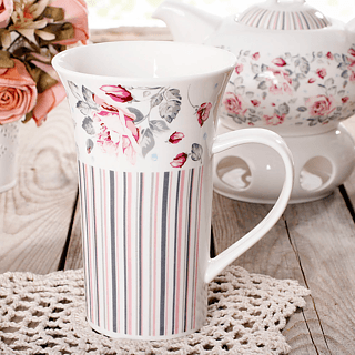 Kubek porcelanowy DUO SHABBY CHIC 500 ml