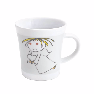 Kubek porcelanowy KAHLA NOTES ANIOŁ Z SERCEM 300 ml