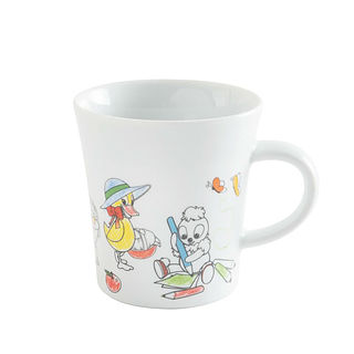 Kubek porcelanowy KAHLA NOTES KIDS BIAŁY 300 ml