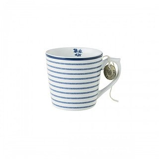 Kubek porcelanowy LAURA ASHLEY CANDY STRIPE BIAŁY 220 ml