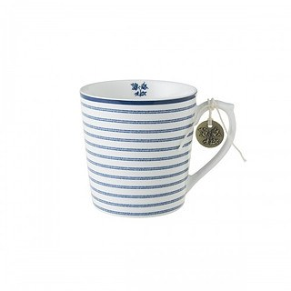 Kubek porcelanowy LAURA ASHLEY CANDY STRIPE BIAŁY 320 ml