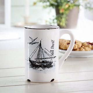 Kubek porcelanowy RETRO SAIL AWAY 300 ml
