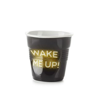 Kubek porcelanowy do espresso REVOL FROISSES NEON WAKE UP CZARNY 80 ml