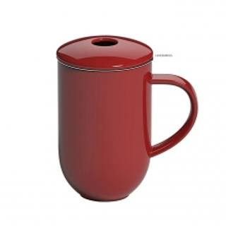 Kubek porcelanowy z zaparzaczem LOVERAMICS PRO TEA RED 450 ml